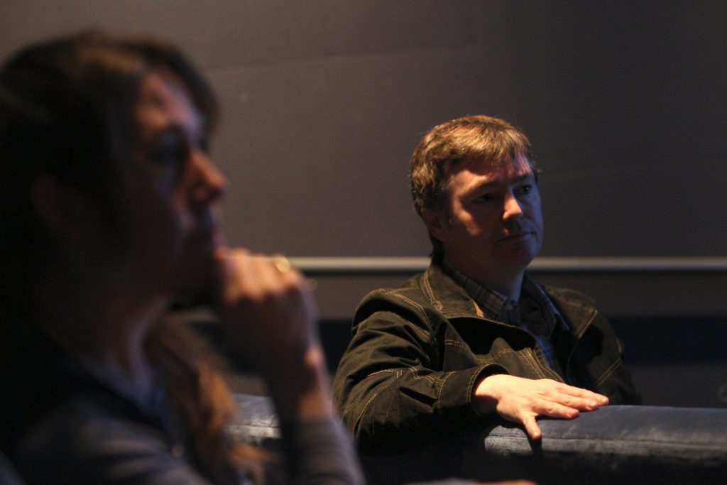 "The ""Inside Out"" Long Lead Press Day, including presentations by (right) Supervising Animator Victor Navone, as seen on March 31, 2015 at Pixar Animation Studios in Emeryville, Calif. (Photo by Deborah Coleman / Pixar)"
