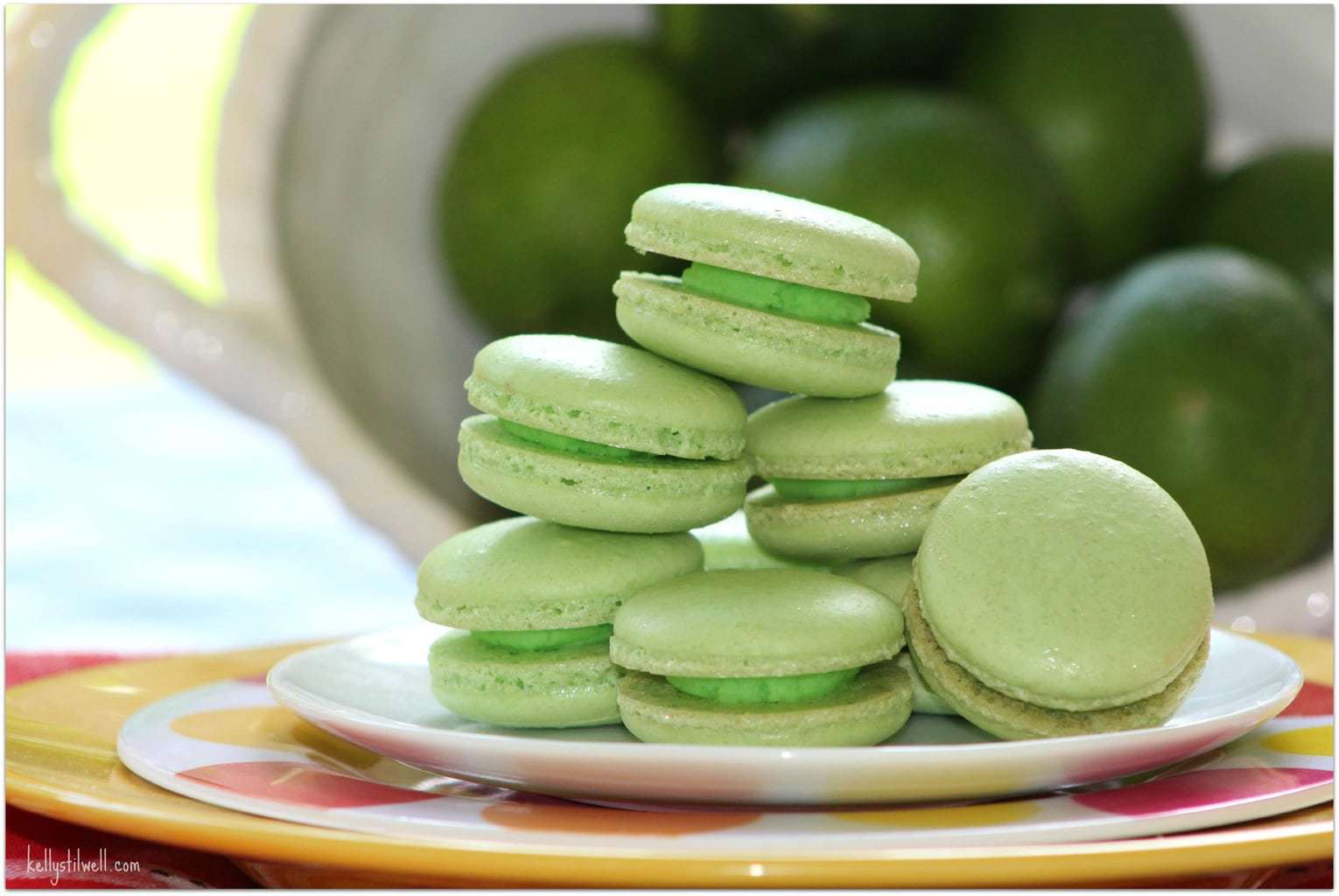 Cookies are one of my favorite foods. I adore macarons, but whenever I see them in a bakery, they are so crazy expensive. Surprisingly, they are not that hard to make! As almond flour is used, that part of the recipe is a bit more expensive, but they are so worth it. Don't buy these when you can DIY. This lime version is perfect for a summer dessert! These would also make a lovely gift.
