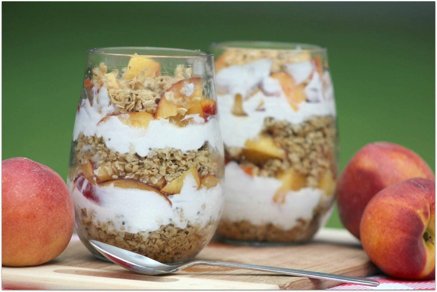 I love serving my family something special for breakfast, and this Peaches and Cream Parfait is just the perfect healthy food to start your day. We can get peaches almost all year round now, but in the summer they are really perfect. This is such an easy recipe, too. Enjoy!