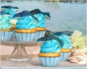 This Shark Week Cupcake dessert recipe is pretty popular right now with the event right around the corner. Did you know Shark Week is the most watched show in the 26-year history of the Discovery Channel? Make this easy dessert and surprise the kids with a special treat! Also great for summer pool parties and birthdays!