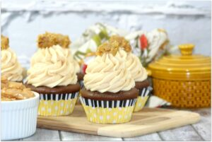 This chocolate peanut butter cupcake recipe is easy to make and so delicious. They are frosted with peanut butter frosting and have a surprise inside! Peanut butter is such a perfect food, and when mixed with chocolate, oh yum! This will be one of your favorite recipes!