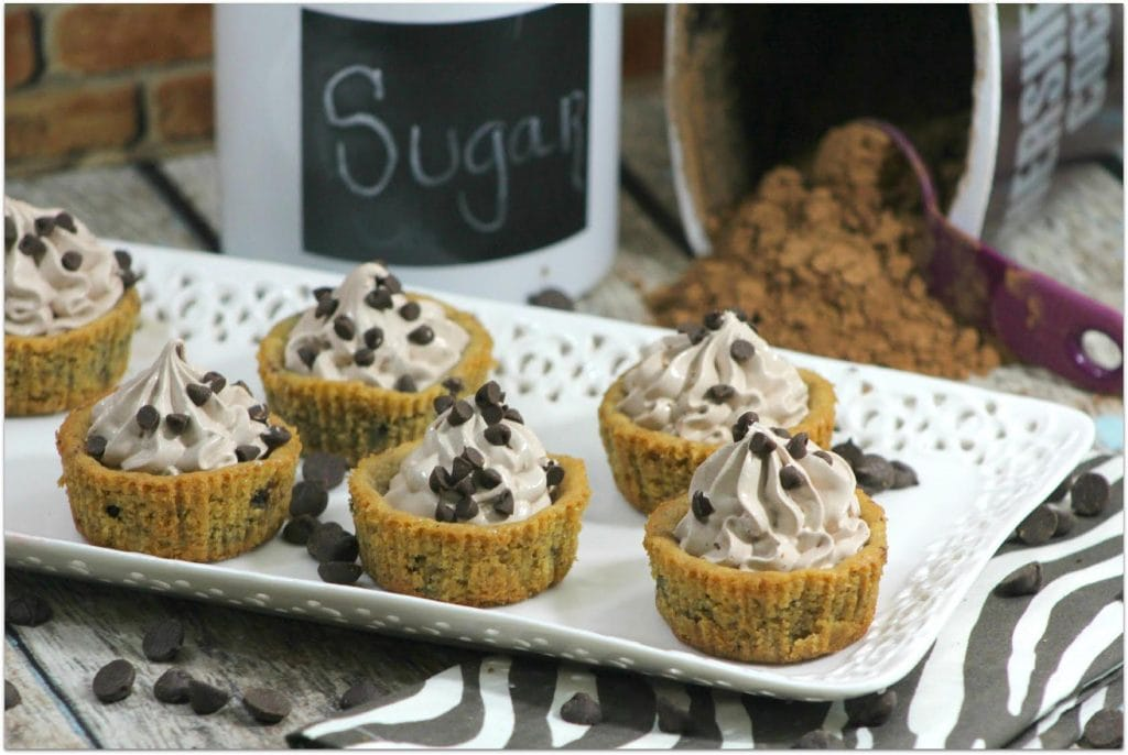 What's better than a chocolate chip cookie? A chocolate chip cookie cup with chocolate mouse in it! This recipe is easy, and you will be a rock star when serving these at your next party!