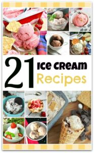 Summer is the perfect time for ice cream, and I've got 21 delicious recipes for you to try! We love to have parties, and making your own sundae is always a hit! We've got berry recipes, chocolate recipes, a melon recipe, and even a jelly donut ice cream recipe! Forget the food, let's just have dessert!