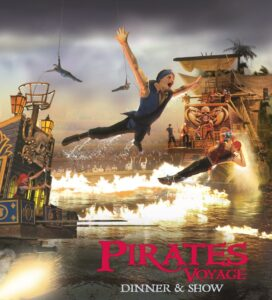 Summer is the perfect time to travel to Myrtle Beach South Carolina for a family vacation! While you're there, check out Pirate's Voyage, an exciting and funny show the whole family will love! The food is good and you'll find lots of photo opps. Christmas is also a great time to visit!