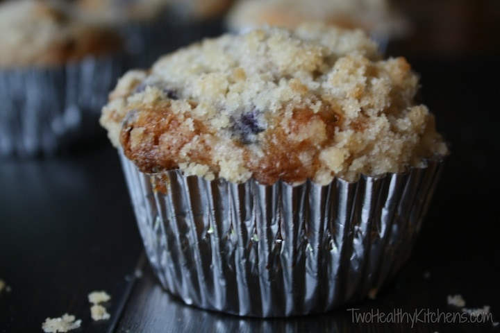 muffin in silver cupcake liner