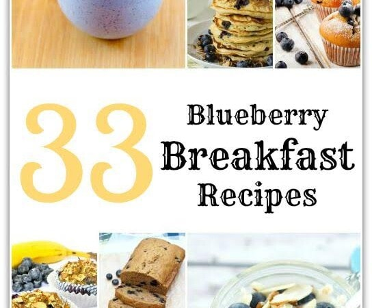 This list of 33 blueberry breakfast recipes has something for everyone! Need to get food on the table before school? You'll find it here! Looking for a recipe that's a little more decadent? We've got that, too! From no-bake to make ahead to smoothies and even a gluten-free tossed in, these blueberry breakfast recipes are all delicious and won't keep you in the kitchen all day!