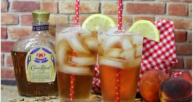 This Crown royal Peach Cocktail is the bomb! I've never been much of a whisky drinker, but this is so good with the Peach Schnapps! I might try to muddle a peach the next time! Either way, this will lift your spirits!