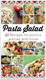 These 21 delicious pasta recipes are perfect for bringing something special to a party! We have simple pasta recipes, chicken recipes, and even vegetarian recipes. Most of these are easy recipes, perfect for summer when you want to make your kitchen time as little as possible. I love dinner recipes that I know my family will love!