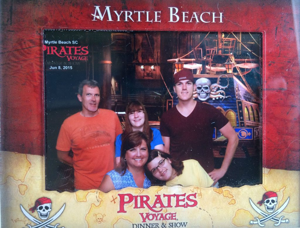 Summer is the perfect time to travel to Myrtle Beach South Carolina for a family vacation! While you're there, check out Pirates Voyage, an exciting and funny show the whole family will love! The food is good and you'll find lots of photo opps. Christmas is also a great time to visit!