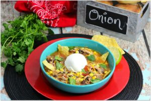 This recipe for Chicken Tortilla Soup is so delicious for a weeknight dinner or a Mexican food party! It's easy to make and won't keep you in the kitchen all day. This will be one of your favorite dinner recipes!
