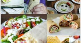 Wrap sandwiches for school lunches graphic.