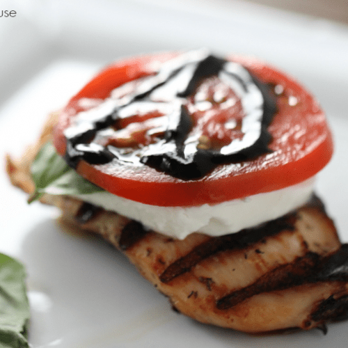Chicken Caprese for the gril.