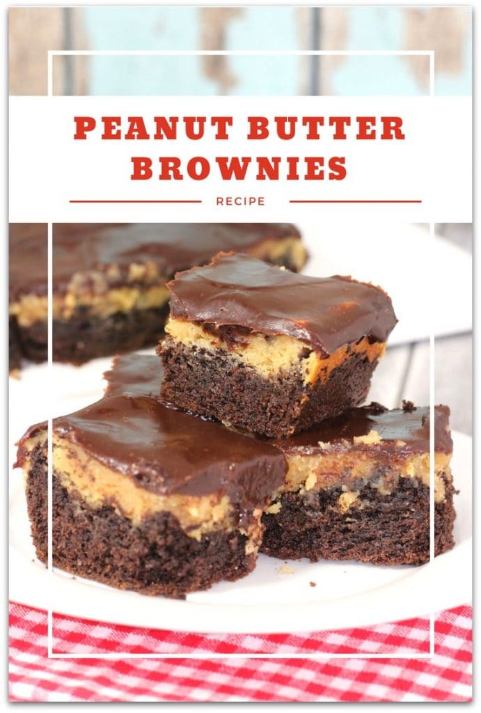 These peanut butter brownies are going to be your new favorite recipe. Not just because they are decadently delicious, but because they are so easy to make! Think Reese's Peanut Butter Cups and you'll be on the right track.