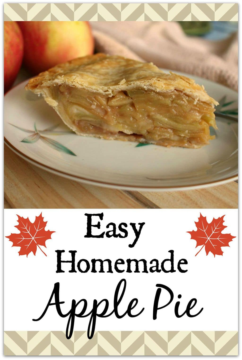 This recipe for easy homemade apple pie really is simple! Head to the kitchen with the kids to peel and slice those apples, and make a party out of it! You'll all be glad you did when you have this delicious dessert recipe for after dinner! My kids even eat it for breakfast!