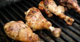 Grilled chicken drummies.