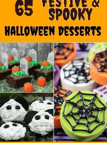 list of Halloween desserts for Pinterest
