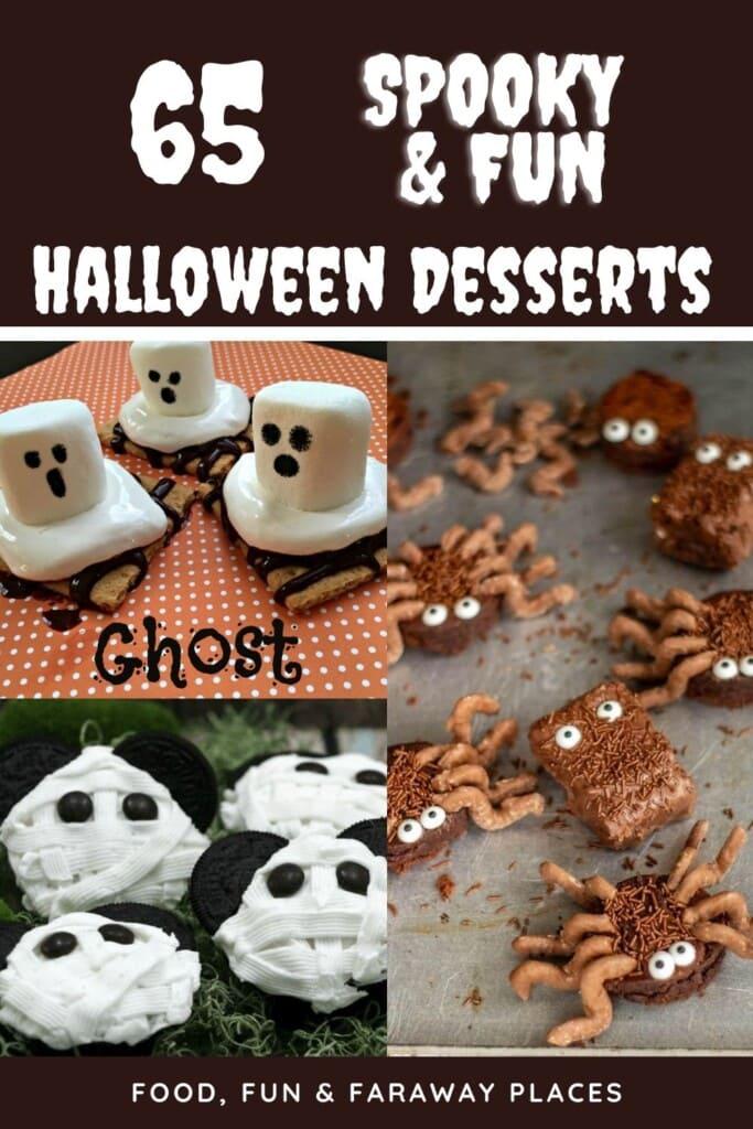 graphic for Halloween desserts on Pinterest