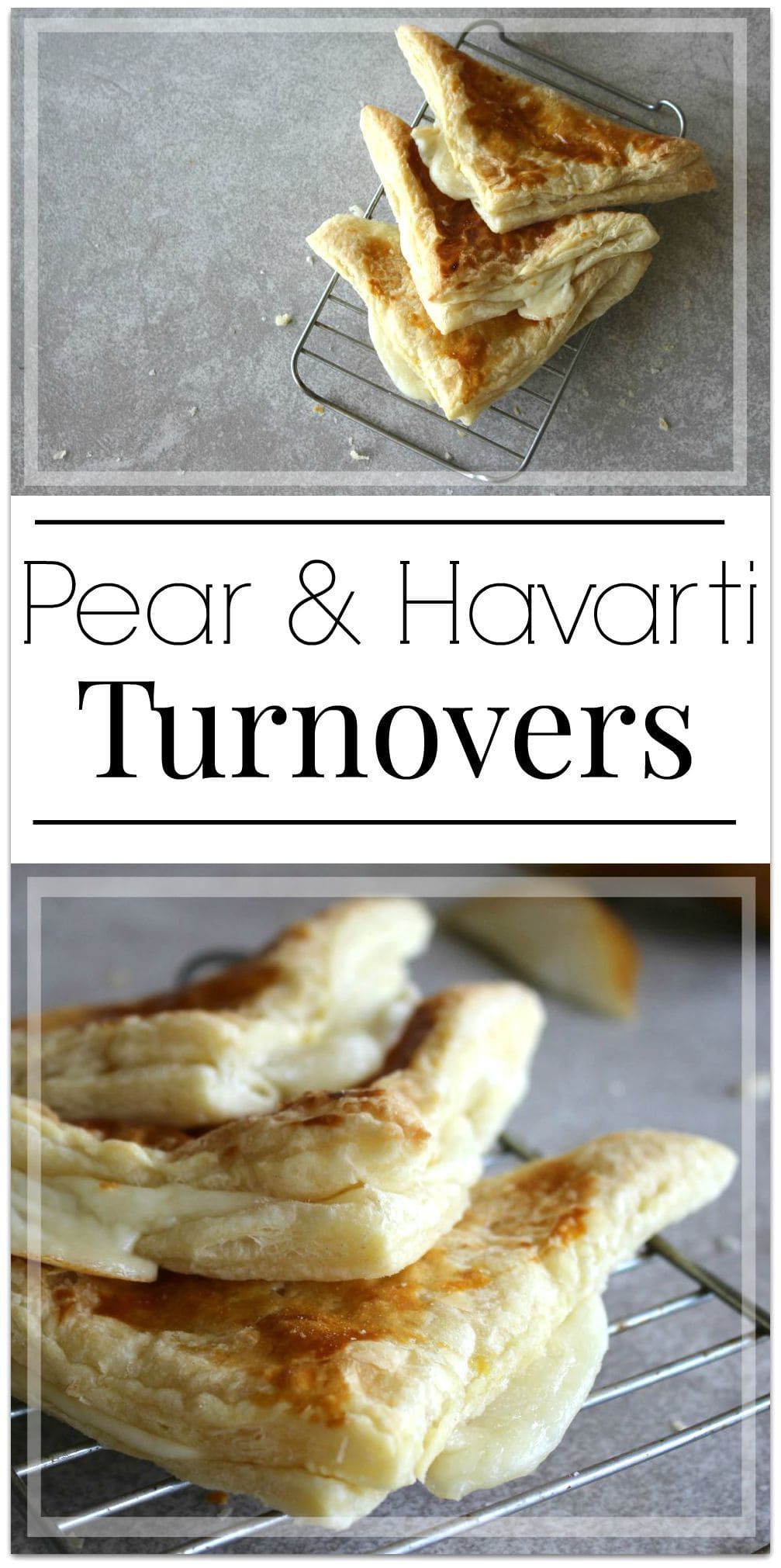 These Pear & Havarti Turnovers are perfect for a healthy after school snack!