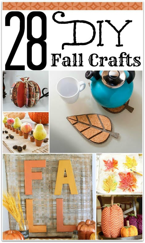 These fall decorations are so easy to make and will make your home a little more festive for autumn! I love fall decorations, but who wants to spend all that money? You can really DIY your own fall crafts, and even make extras to gift to friends!