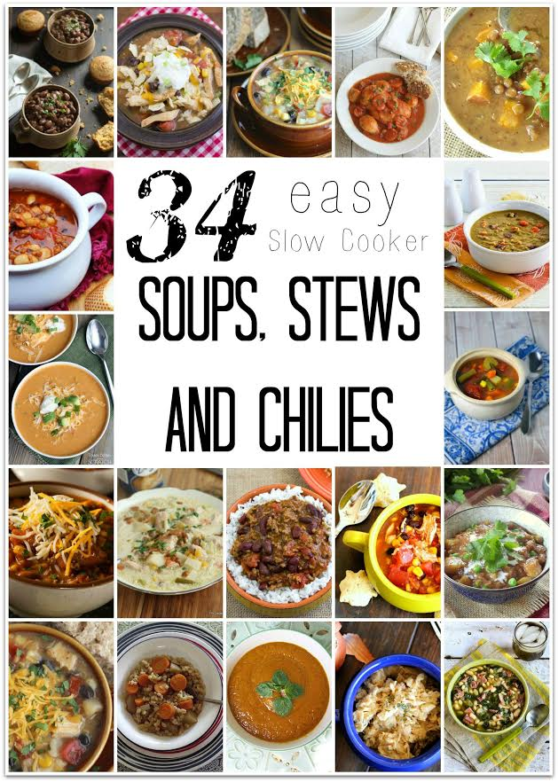 With summer coming to an end and fall weather approaching, there is nothing like a big bowl of steaming soup for dinner. With these 34 crockpot recipes, you'll have plenty of ideas! We've got chicken recipes, beef recipes, vegetarian recipes for the vegetarian in your house, and even a gluten free option for those who can't eat gluten. Soup is the perfect food for cooler nights, and using the slow cooker makes it easy!