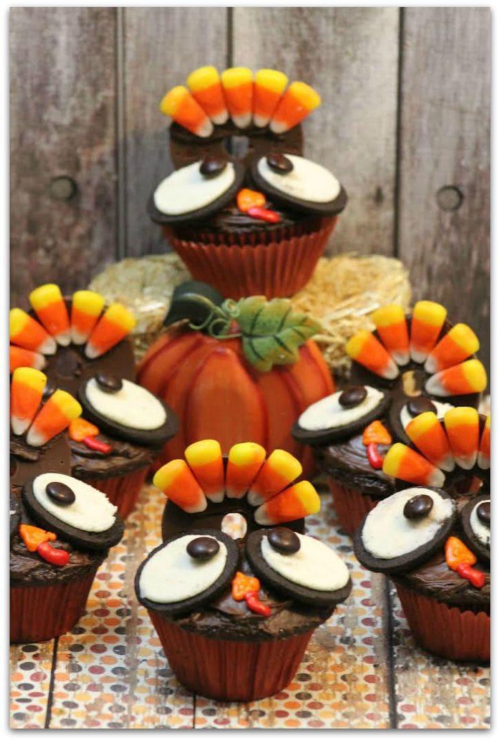 Thanksgiving Turkey Cupcakes Food Fun Faraway Places