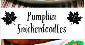 Pumpkin Snickerdoodle cookies graphic for Pinterest.
