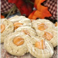 cookies with a pumpkin spice kiss in the middle