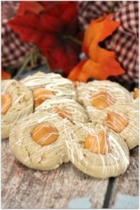 These Peanut Butter and Pumpkin Spice Thumbprint Cookies are so much fun to make with family or friends. Though perfect for fall all the way through Christmas, this easy dessert can be served anytime of the year! The icing makes these cookies look so special, but it's such an easy recipe! Looking for something different for that cookie exchange? You've found it!