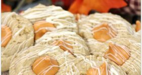 Peanut Butter and Pumpkin Spice Thumbprint Cookie Recipe
