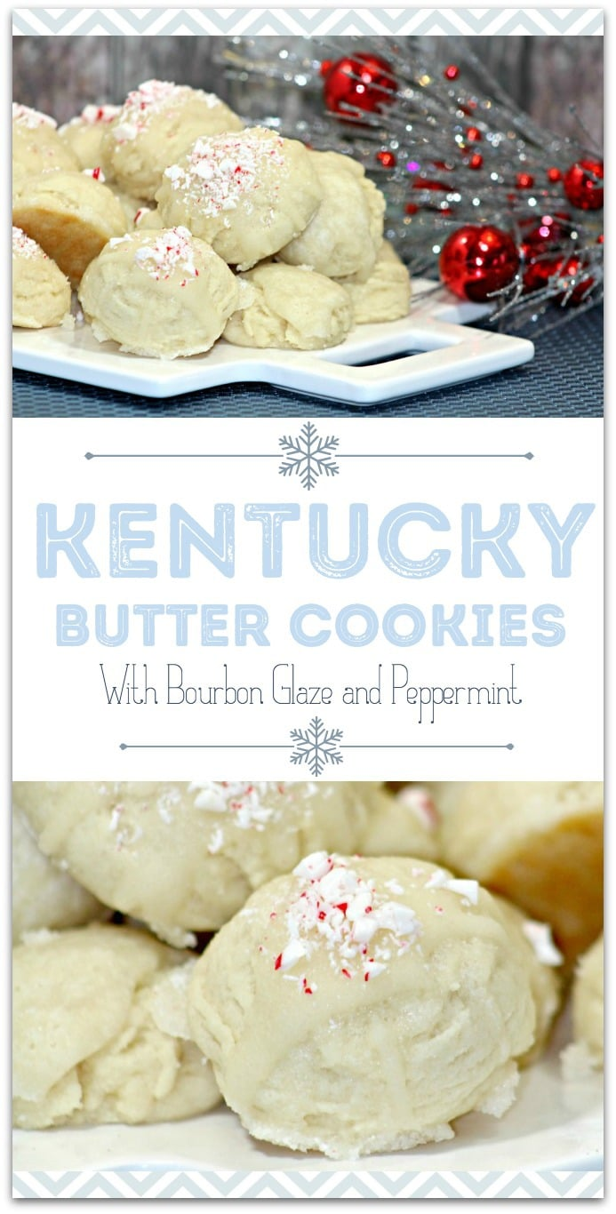 This Kentucky Butter Cookie recipe is easy and such a great grown-up treat for your Christmas party! I love having desserts on hand for guests, and this is one everyone will love! Have friends each bring an appetizer and you can serve dessert, for a ready-made holiday party! Who says you need to slave in the kitchen making food?