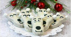 Polar Bear Nutter Butter Cookies