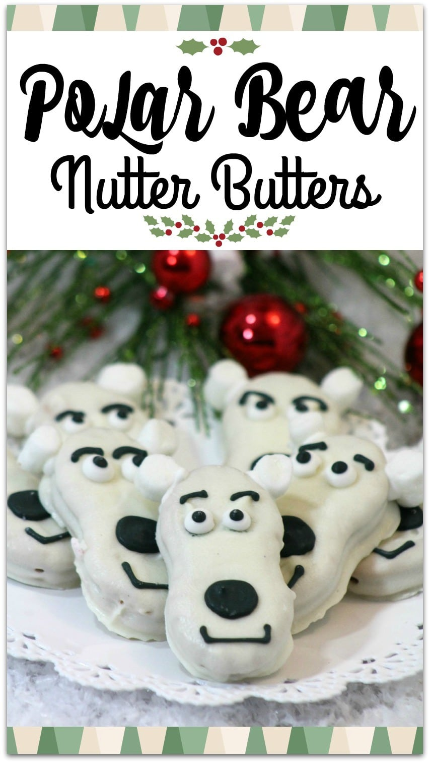 These Polar Bear Nutter Butter Cookies are so cute and would be a great dessert for a party. The kids will have fun decorating the cookies and the recipe is so easy, it won't keep you in the kitchen all day.