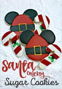Santa Mickey Sugar Cookies