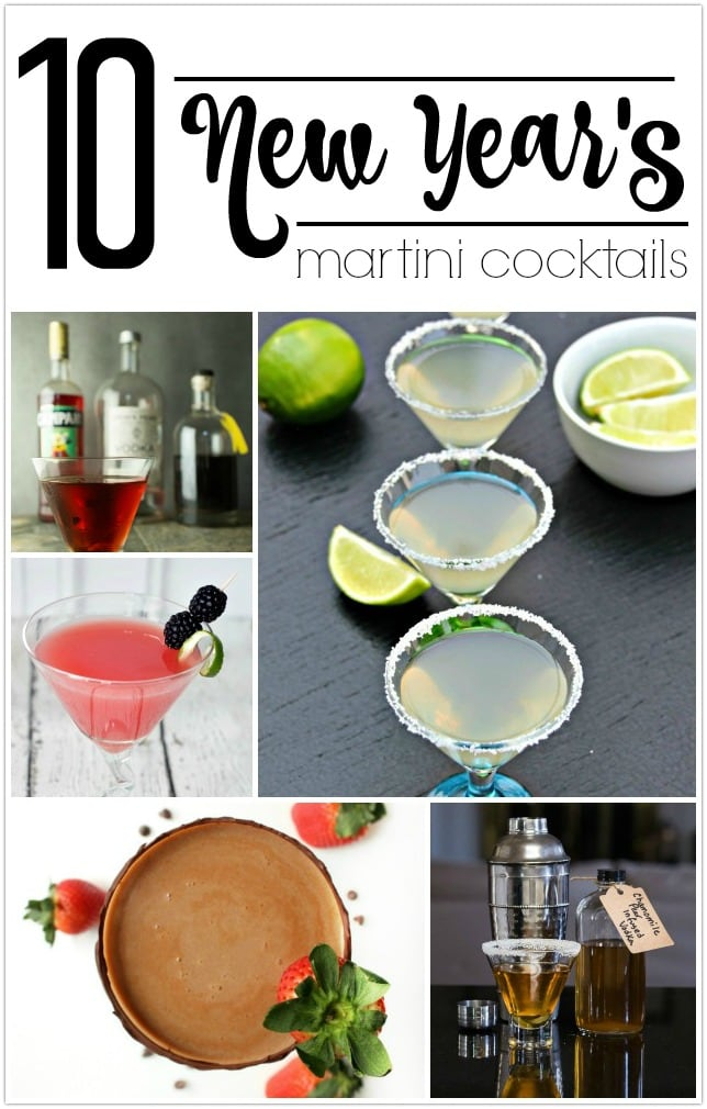 These 10 New Year's Eve Martini cocktails will have your guests thinking you're a fabulous bartender! Each has a recipe for ingredients needed and photos to show you just how it will look. Have a wonderful New Years Eve!