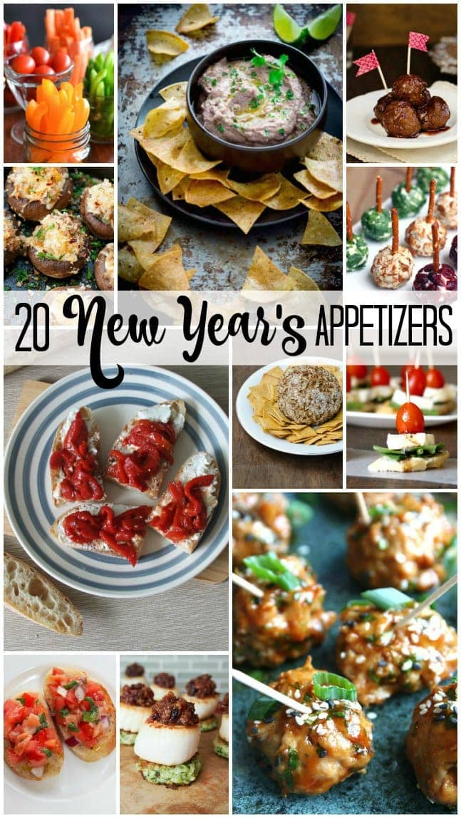Looking for New Year's Eve appetizers? You've found 20! I'm always looking for new and easy recipes for parties, and these recipes are from some of the best food bloggers out there! #PartyRecipes #NewYearsRecipes #NewYearsEve