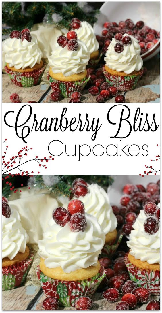 I love cranberry anything, and these Cranberry Bliss Cupcakes are the perfect Christmas dessert! I think cupcakes are the perfect sweet treat after a meal and I love them for school parties, too! This recipe has a couple of extra steps, but it's worth it in the end! You will love the results!