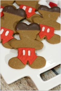 These Mickey Mouse Gingerbread Cookies are the perfect recipe for that class party! Who doesn't love Mickey Mouse? Cookies are the easiest dessert to make and transport! You'll be a rock star mom when this dessert shows up!