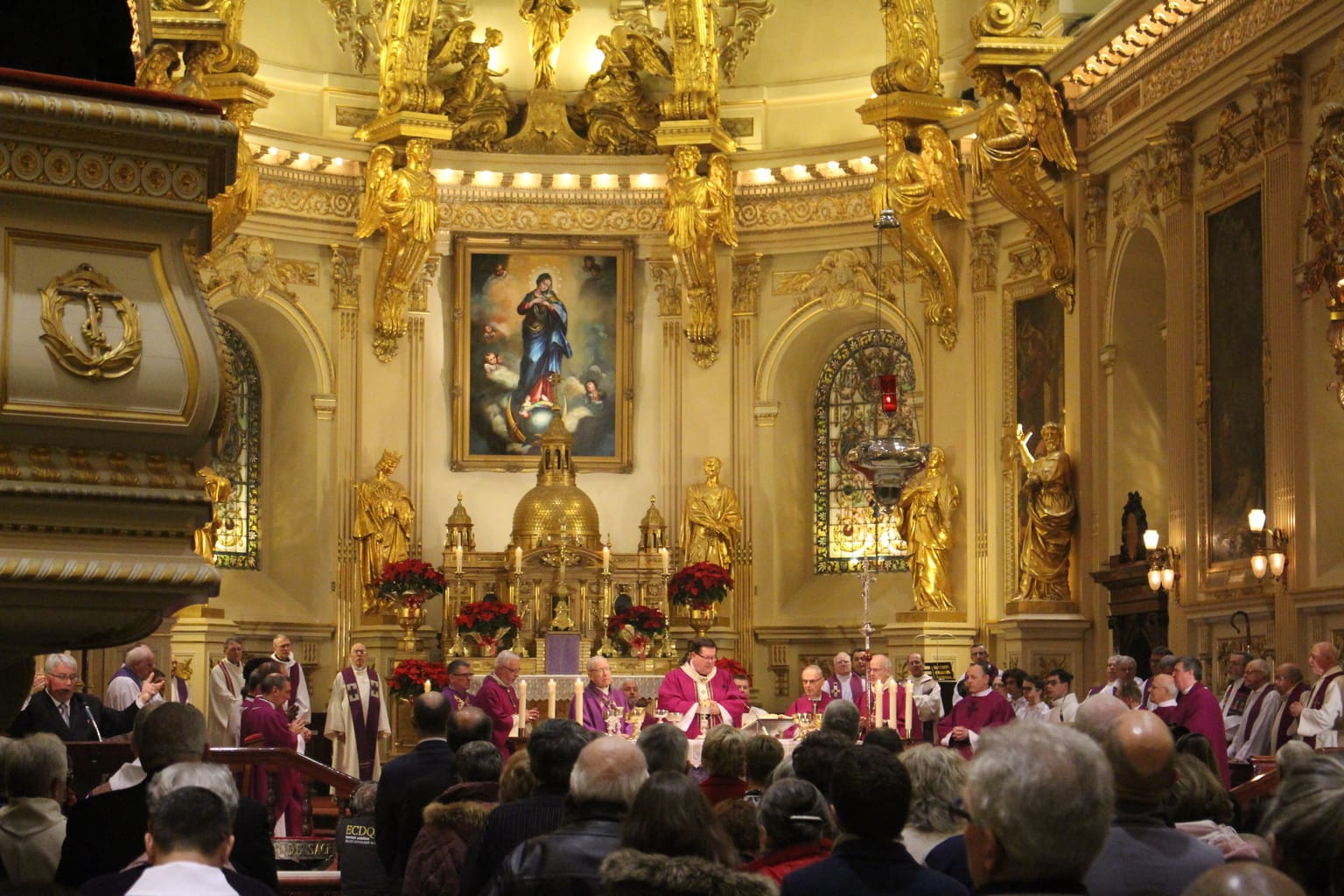 Mass given by Cardinal Gerald C. Lacroix at Notre-Dame de Québec on the reopening of the Holy Door