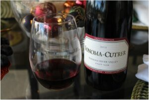 The complex flavors of the Sonoma Cutrer Russian River Pinot Noir are created from the grapes growing in temperatures that change dramatically between warm days and cool foggy nights of the Russian River Valley. The result is rich flavors of Bing cherry, wild strawberry, barrel spice and dark chocolate.