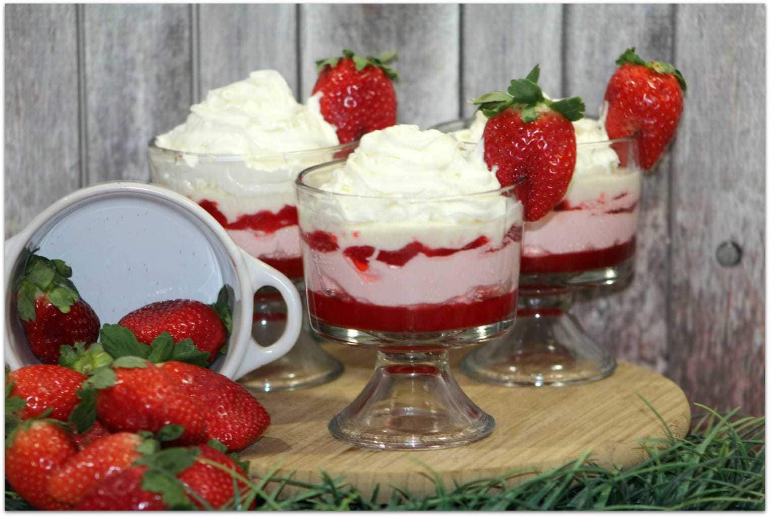 This Red Velvet Cookie and Strawberry Parfait will wow your friends and family, and it's an easy recipe! Don't go out and buy desserts when you can head to the kitchen and make this recipe yourself! This easy dessert is perfect for Valentine's Day or any day you want to make something special.