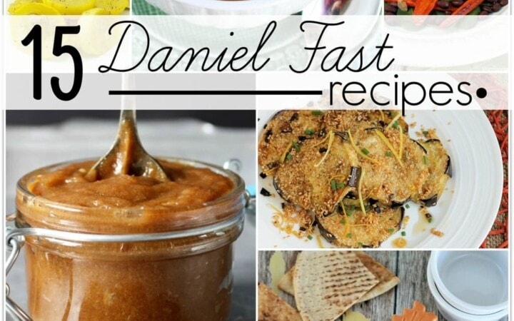 The Daniel Fast is not so much a traditional fast where you don't eat. It's just eating really healthy, and fasting from certain foods. No meat, no dairy, no sweeteners, nothing deep fried, no solid fats, no leavened bread.