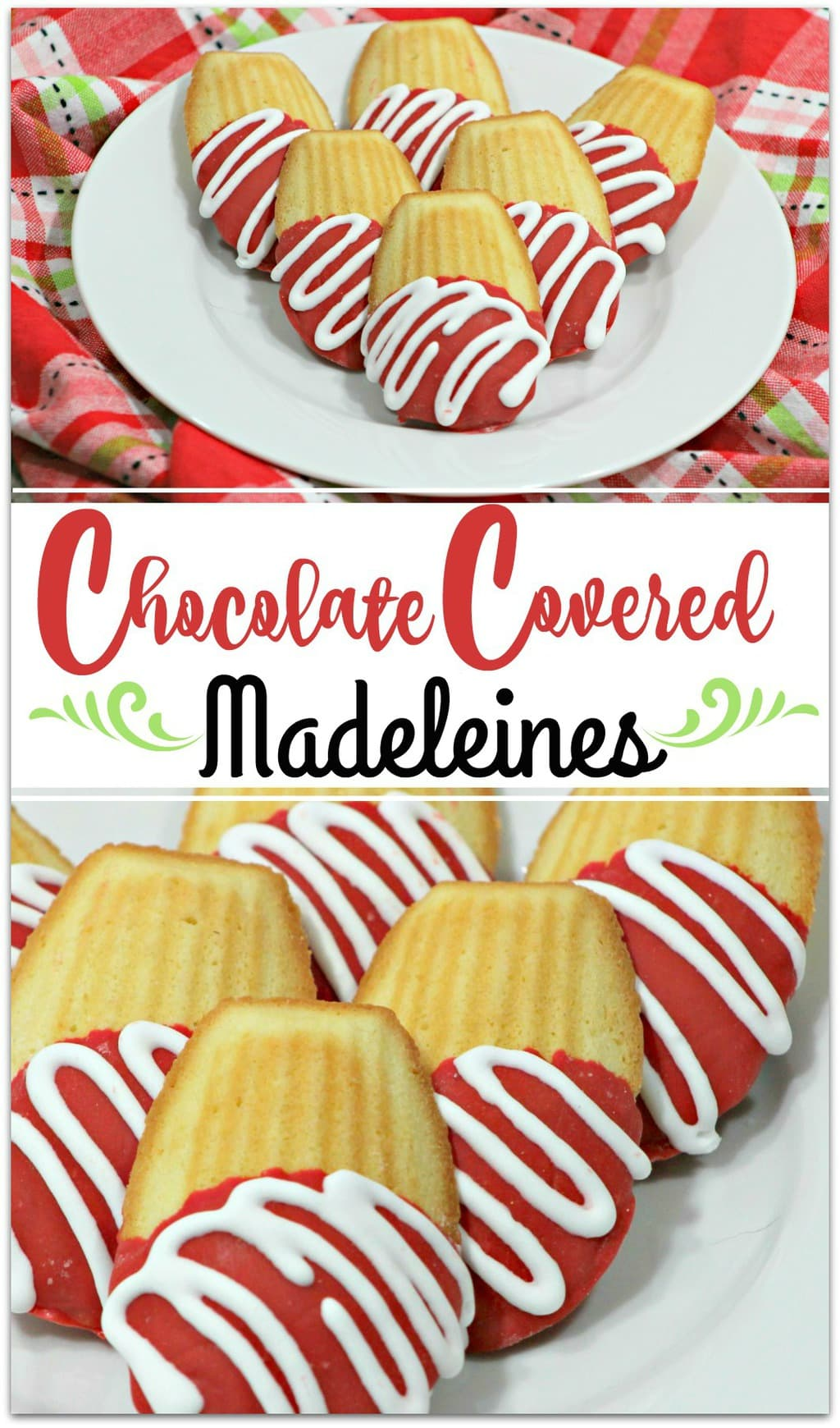 We love cookies around here, and these Chocolate Covered Madelines are not only delicious, they are so pretty! Make it the centerpiece on your kitchen table for Valentine's Day, or add them to a pretty Valentine's basket for your kids! Need a dessert for the classroom party? Everyone will love these cookies, and it's an easy recipe, too!