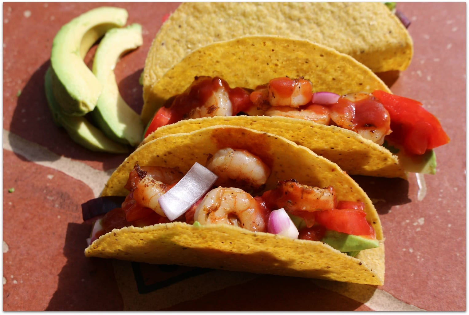 Shrimp tacos are one of my favorite foods. My family never tires of Mexican food, and this is such an easy recipe. When you are busy like we are, you need to be able to pull dinner together quickly. This recipe is perfect for a weeknight meal or a big game celebration!