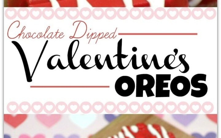 These chocolate dipped Valentine's Oreos are the bomb! If you're looking for a simple way to make a festive dessert, this easy recipe is for you! You'll have fun in the kitchen with your kids making them and be a rockstar mom at the class party!