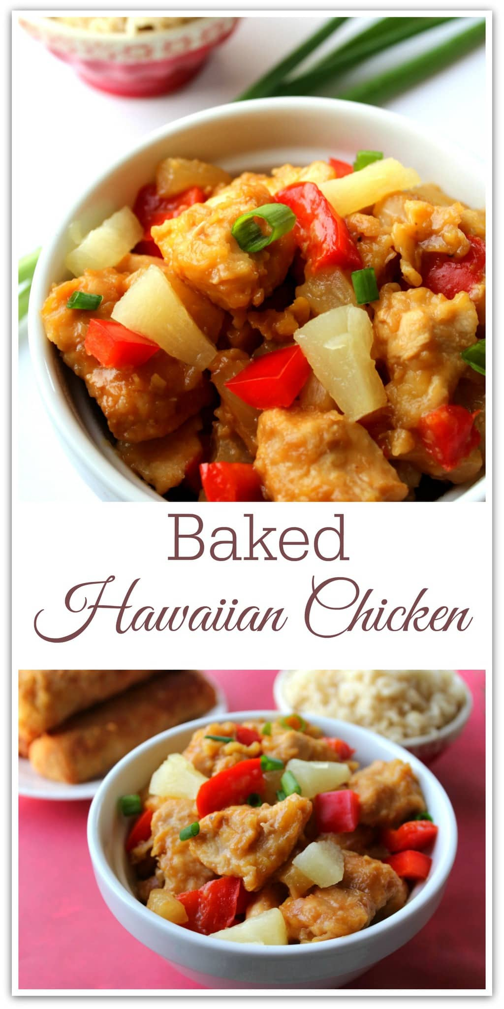 This Baked Sweet Hawaiian Chicken recipe is so easy, and your family will love it. Chicken recipes are my go-to dinner recipe because they are usually quick and not too difficult to pull off. The sweetness of the pineapple and mixed with the red pepper is so delicious. You will want to make this again and again!