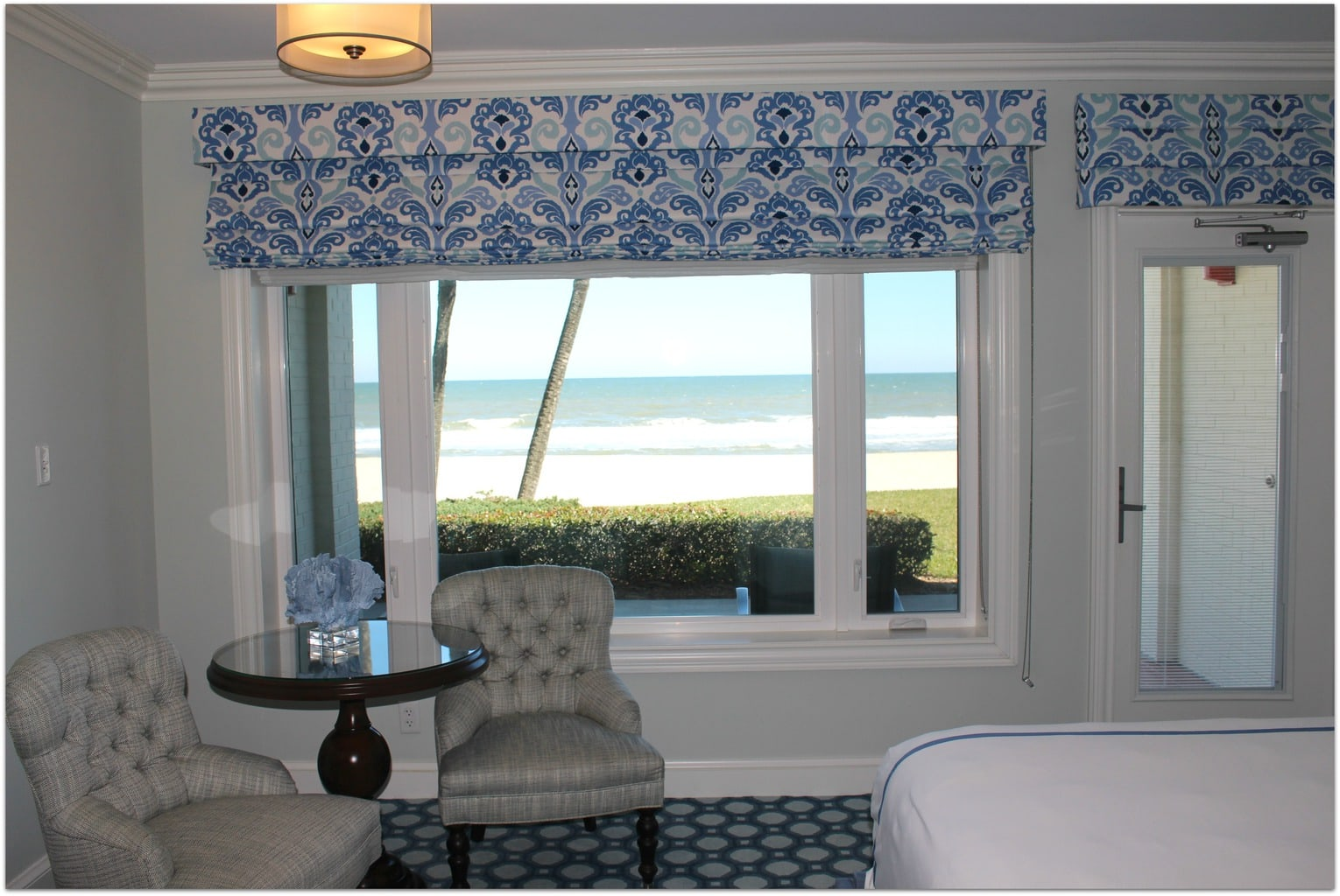 Our room at the Ponte Vedra Inn and spa was spectacular, with comfortable beds, a gorgeous view of the ocean and incredibly soft robes.