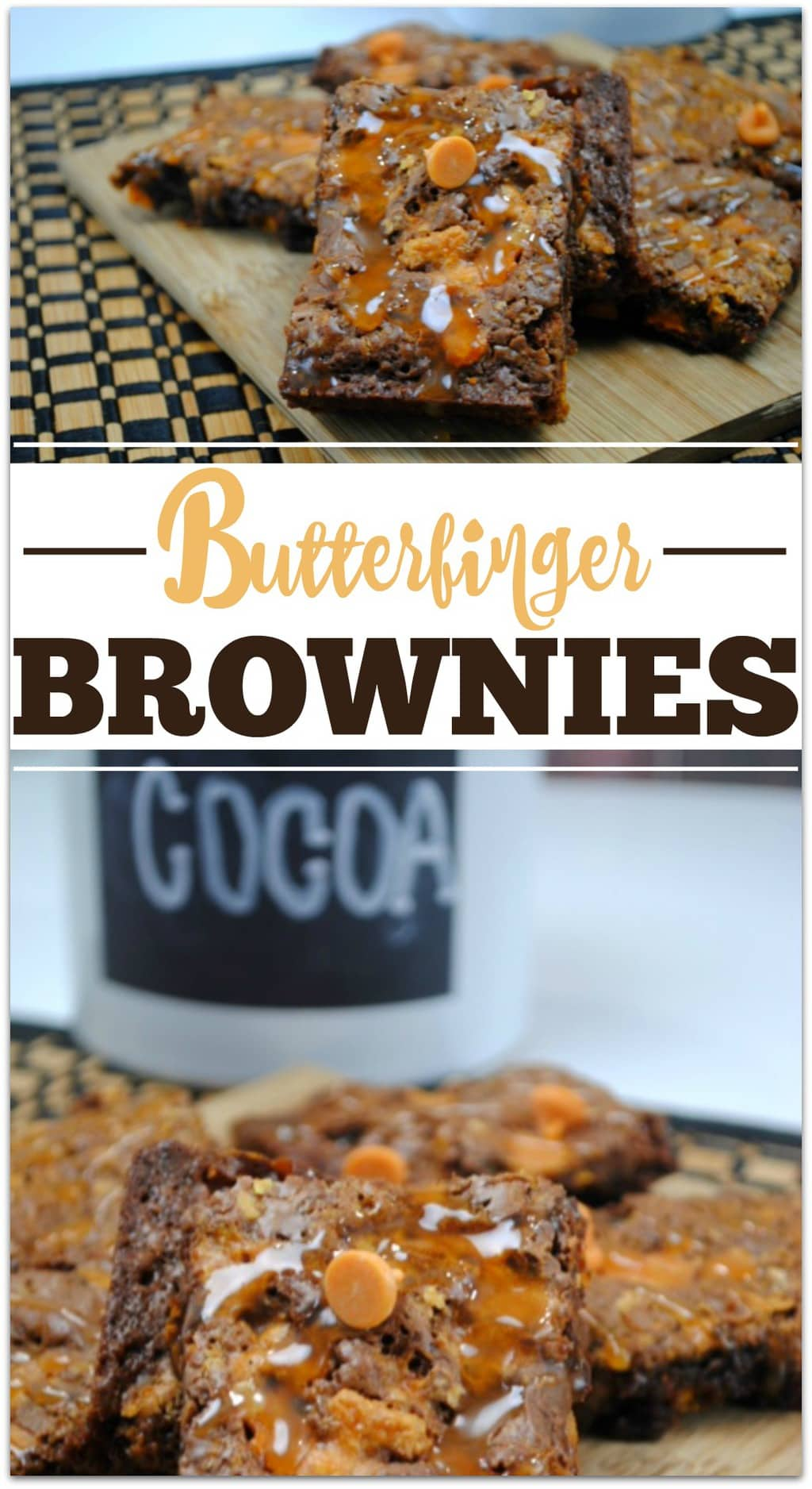 Everyone loves brownies, and these Butterfinger Brownies are the bomb! This dessert will be the hit at any party, and it's such an easy recipe!