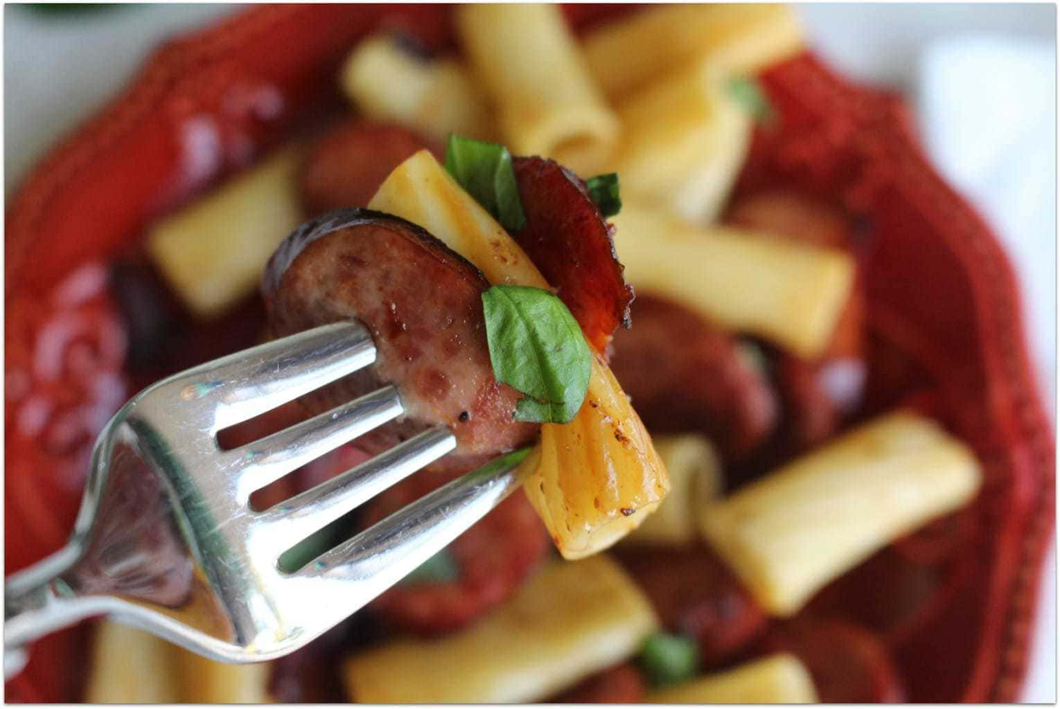 This Italian Rigatoni with smoked sausage and sundried tomato is one of the best dinner recipes I've ever made. The smokiness of the sausage paired with the sweetness of the sundried tomatoes gives this easy recipe amazing flavor, and it won't keep you in the kitchen for hours! I like easy!
