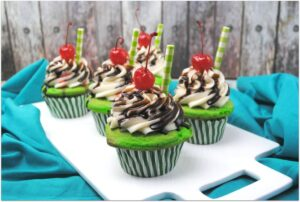 These Shamrock Shake Cupcakes are just too cute and so delicious. Think Thin Mints in a cupcake! As I've said before, cupcakes are my favorite dessert, and if it's an easy recipes, even better! Are you doing anything special for your family for St. Patrick's Day? Make these cupcakes for a special surprise!