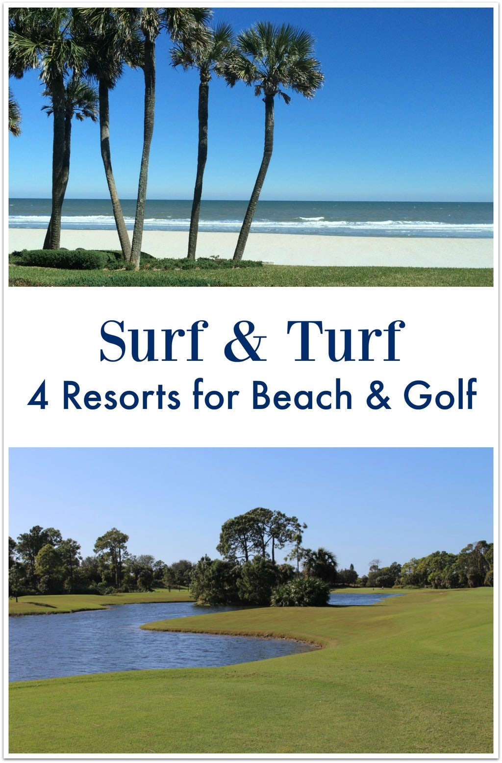 I've found 4 Florida resorts where you can hit the beat and play 18 holes in the same day! Check this out and start planning your next Florida Vacation!